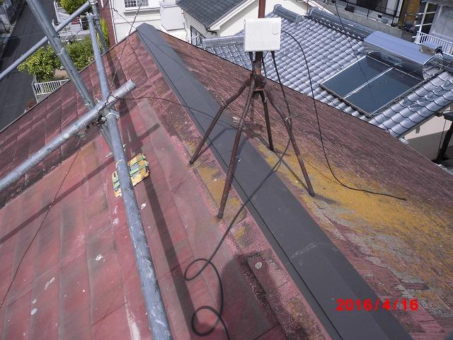大屋根 板金棟押え仕上