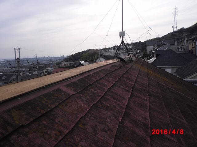 突風による被害(屋根の状況①)