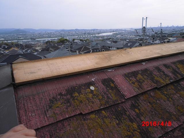 突風による被害(屋根の状況②)